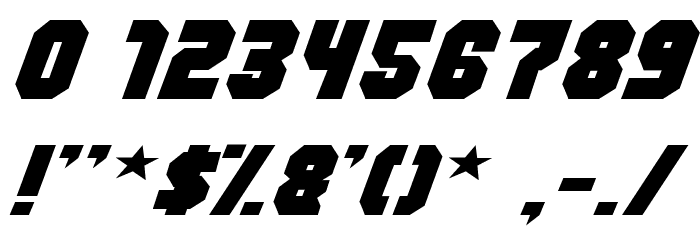 Action Force Normal Font OTHER CHARS