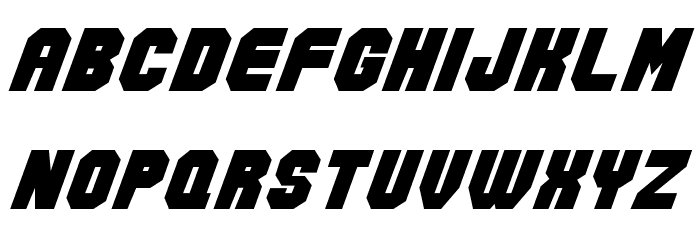 Action Force Normal Font LOWERCASE