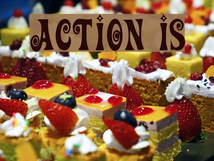 Action Is Шрифта examples