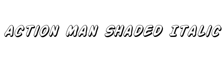 Action Man Shaded Italic  Free Fonts Download