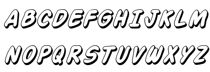 Action Man Shaded Italic फ़ॉन्ट अपरकेस
