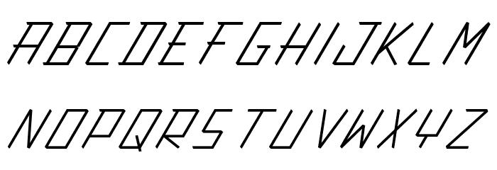 Action Protocol Italic Шрифта ВЕРХНИЙ