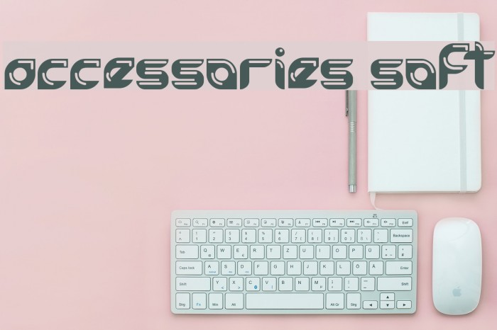 accessories soft Font examples