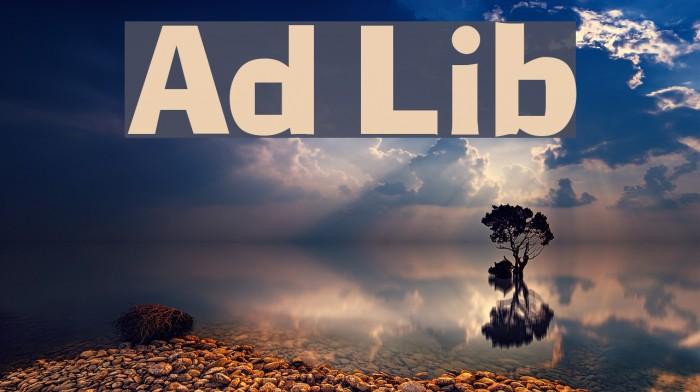 Ad Lib Fonte examples