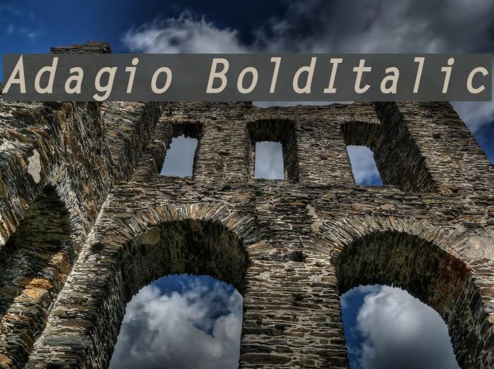 Adagio BoldItalic फ़ॉन्ट examples