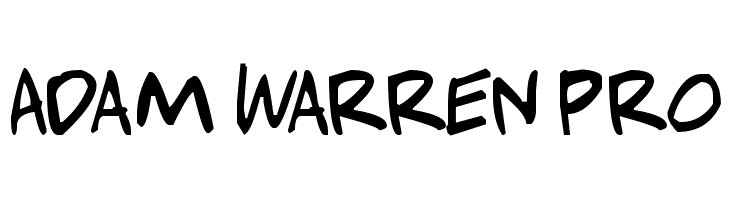 Adam Warren pro  Free Fonts Download