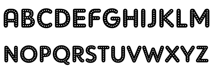 AdamGorry-Lights Font UPPERCASE