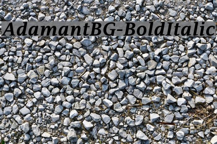 AdamantBG-BoldItalic फ़ॉन्ट examples