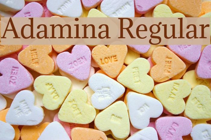 Adamina Regular Fonte examples