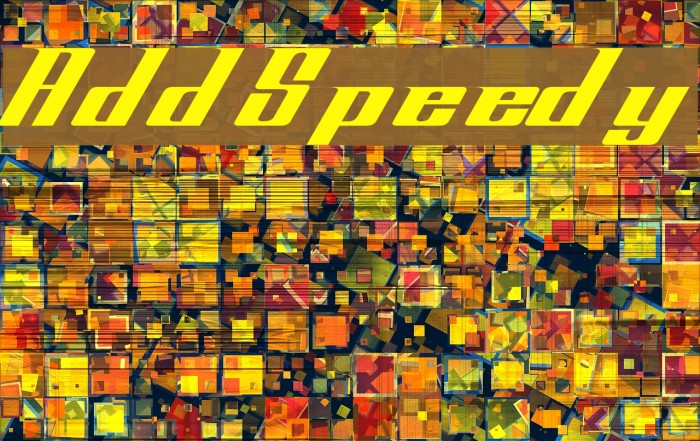 AddSpeedy Font examples