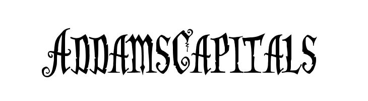 AddamsCapitals Font