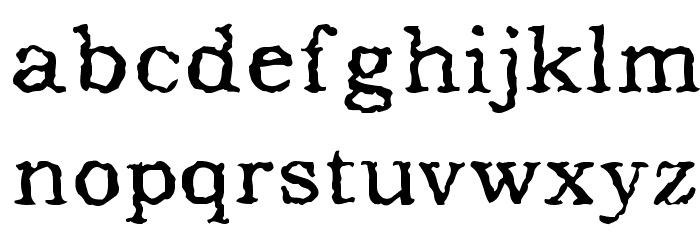 Addicted to Type Font LOWERCASE