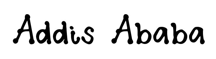 Addis Ababa  Free Fonts Download