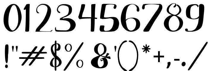 Adefebia Free Font Schriftart Anderer Schreiben
