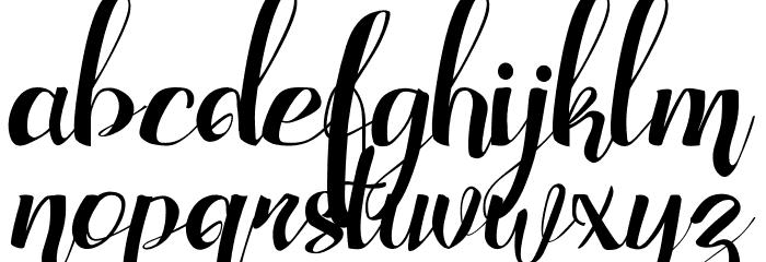 Adefebia Free Font Schriftart Kleinbuchstaben
