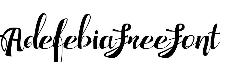 AdefebiaFreeFont  لخطوط تنزيل