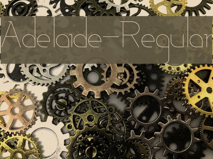 Adelaide-Regular Font examples