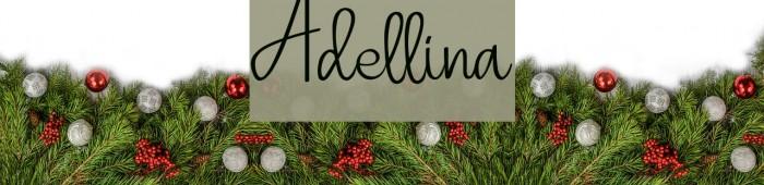 Adellina Шрифта examples