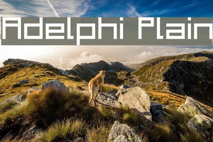 Adelphi Plain Шрифта examples