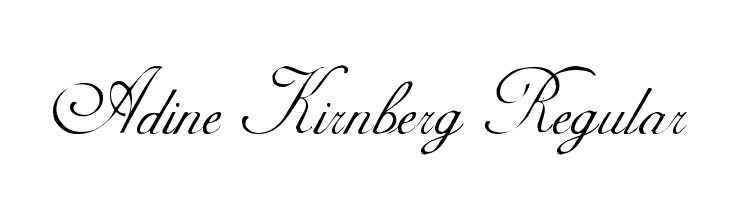 Adine Kirnberg Regular  Free Fonts Download