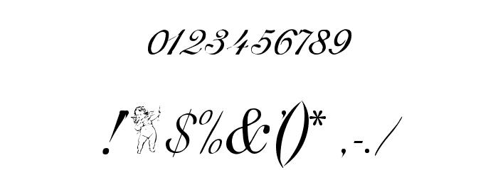 Adine Kirnberg Regular Font OTHER CHARS