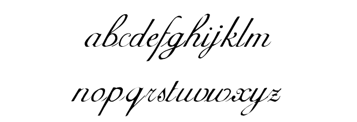 Adine Kirnberg Regular Font LOWERCASE