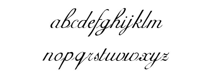 AdineKirnberg Regular Font LOWERCASE
