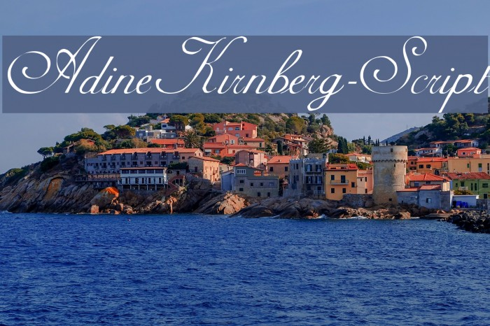 AdineKirnberg-Script Font examples