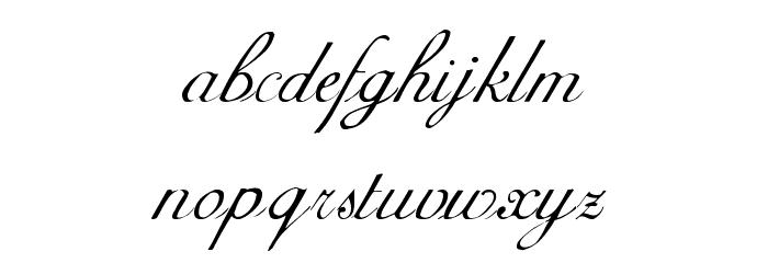 AdineKirnberg-Script Font LOWERCASE