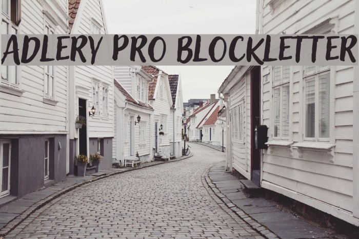 Adlery Pro Blockletter Fonte examples