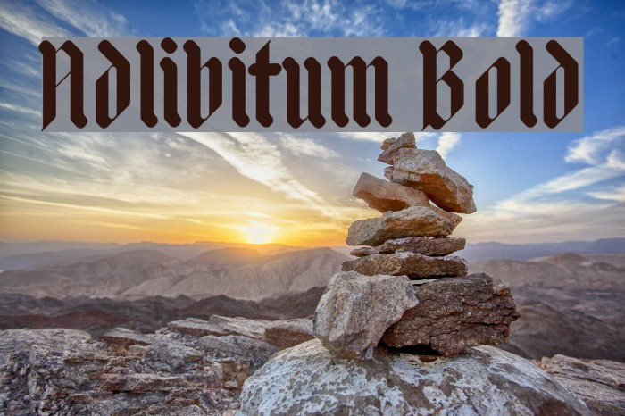 Adlibitum Bold Fonte examples
