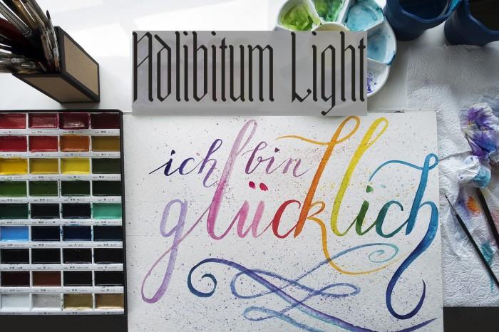 Adlibitum Light Шрифта examples