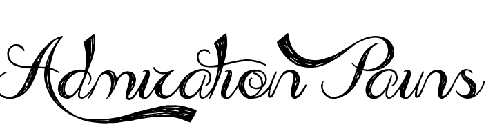 Admiration Pains  Free Fonts Download