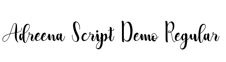 Adreena Script Demo Regular  baixar fontes gratis