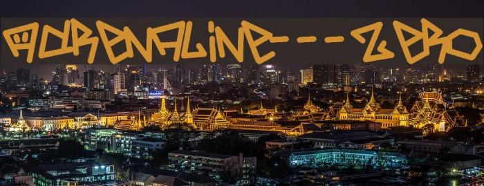 Adrenaline---Zero Шрифта examples