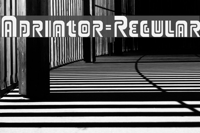 Adriator-Regular Font examples