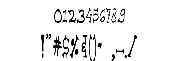 Advance Font OTHER CHARS
