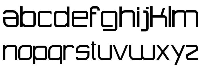 Advanced Architecture Schriftart Kleinbuchstaben