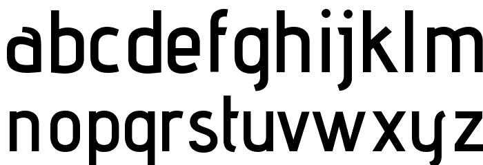 Advent Pro SemiBold Font LOWERCASE