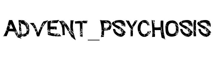 Advent_Psychosis  Скачать бесплатные шрифты
