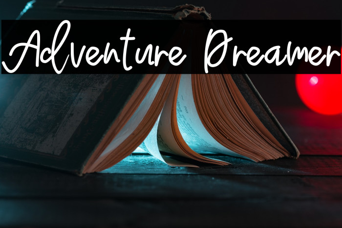 Adventure Dreamer फ़ॉन्ट examples