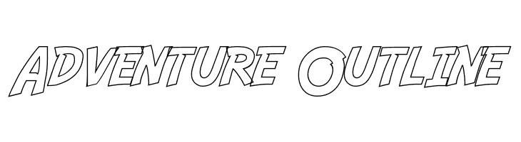 Adventure Outline Font