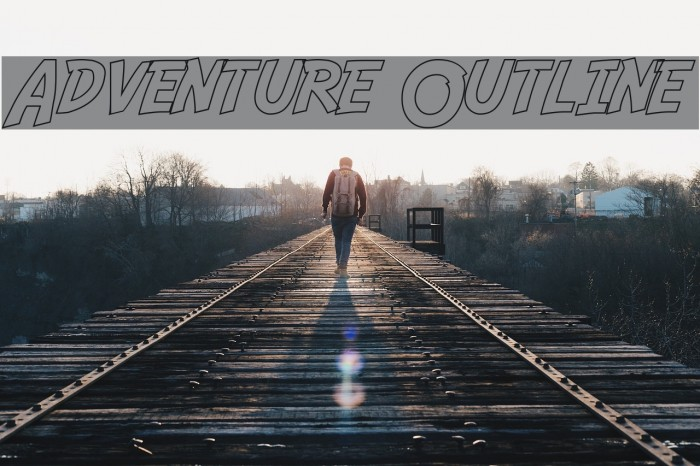 Adventure Outline Font examples