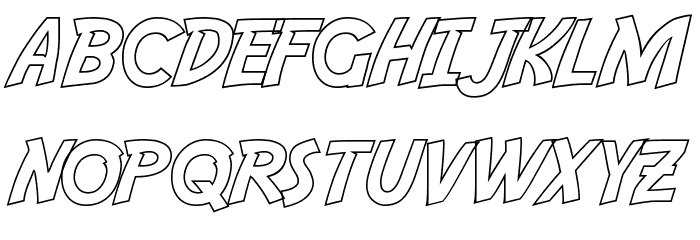 Adventure Outline Font LOWERCASE