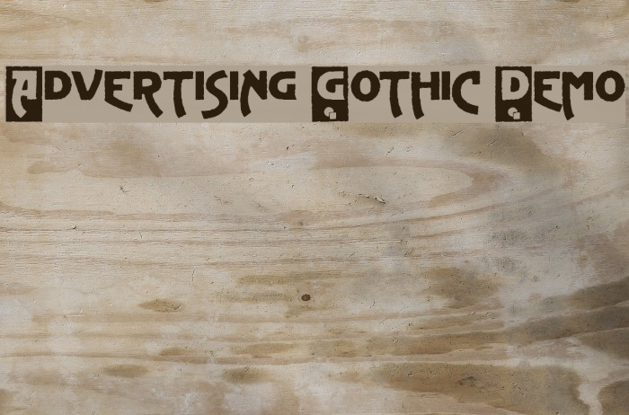 Advertising Gothic Demo لخطوط تنزيل examples