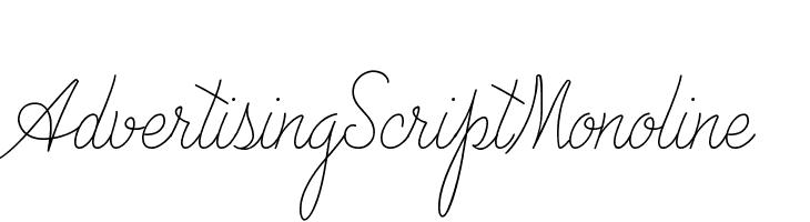 Advertising Script Monoline  Free Fonts Download