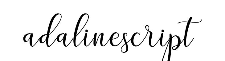 adalinescript  Free Fonts Download