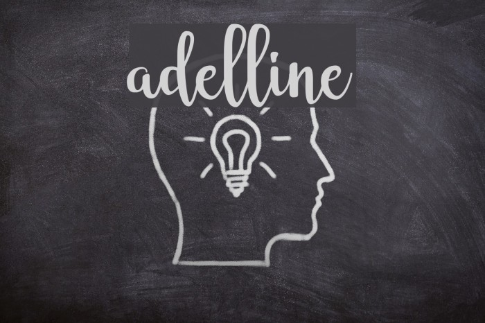 adelline フォント examples
