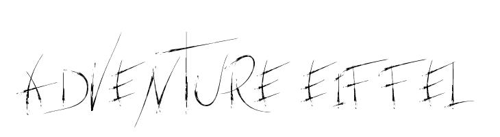adventure Eiffel  Free Fonts Download