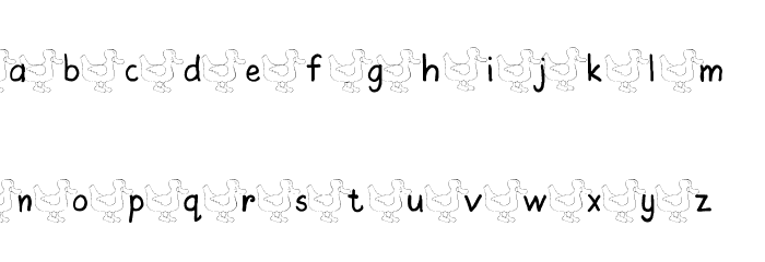 AEZ ducks Font LOWERCASE